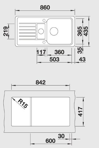 blancofavos oder blanco favos 6 s granitsp le aus silgranit hier online kaufen 860 x 435. Black Bedroom Furniture Sets. Home Design Ideas