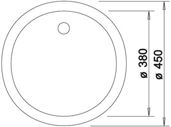 blancorondo spuele sp len blanco silgranit puradur ii rondo granitsp le sp lenshop. Black Bedroom Furniture Sets. Home Design Ideas