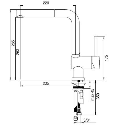 schock piega chrom hochdruck armatur kuechenarmatur 547120 sp lenshop. Black Bedroom Furniture Sets. Home Design Ideas